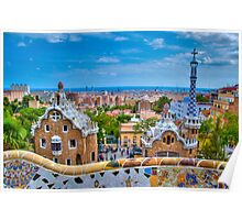 Parc Guell Entrance Poster