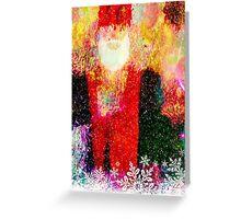 Abstract Santa Claus Greeting Card