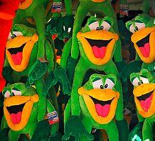 Goofy Green Monkeys by phil decocco
