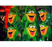 Goofy Green Monkeys Photographic Print