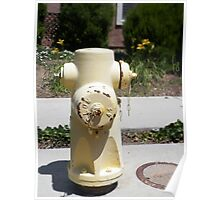 Pale Yellow Fire Hydrant Poster