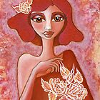 Kiss of a Rose ~ tone on tone bliss by Lisa Frances Judd~QuirkyHappyArt