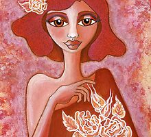 Kiss of a Rose ~ tone on tone bliss by Lisa Frances Judd ~ QuirkyHappyArt