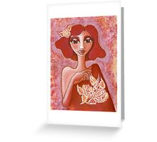 Kiss of a Rose ~ tone on tone bliss Greeting Card
