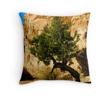 The Lone Cypress, Vasquez Rocks Natural Area Throw Pillow