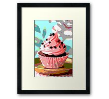 Chocolate Cupcakes with Pink Buttercream Framed Print