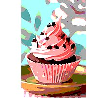 Chocolate Cupcakes with Pink Buttercream Photographic Print