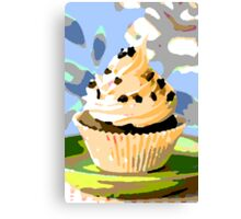 Chocolate Cupcakes with Vanilla Frosting Canvas Print