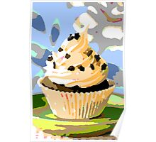 Chocolate Cupcakes with Vanilla Frosting Poster