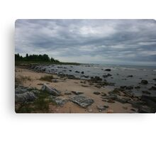 The Northern Shoreline Of Lake Michigan Canvas Print