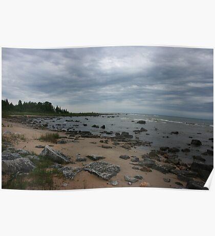 The Northern Shoreline Of Lake Michigan Poster