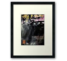 ravine edge... autumn Framed Print