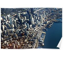 Above Seattle City Streets Poster