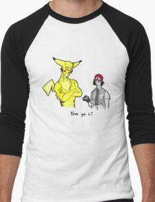 Pikachu is stronger than you Men's Baseball ¾ T-Shirt