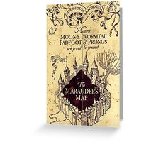 The Marauders Map Harry potter Greeting Card