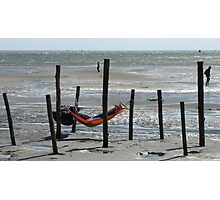 Oerol Festival ~ Relaxing at the 'Green Beach' Photographic Print