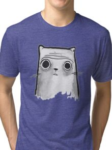 Grey Cat Tri-blend T-Shirt