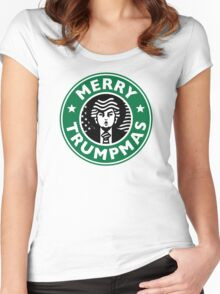 Merry Christmas Donald Trump! Sincerely, Starbucks  Women's Fitted Scoop T-Shirt