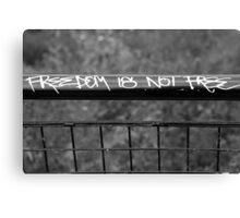 Graffiti to make you think Canvas Print