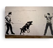 Cops and Robbers Mural Metal Print
