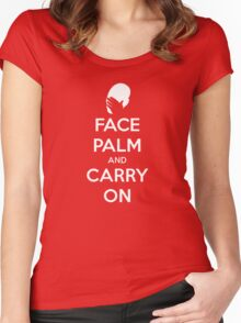 Face Palm and Carry On Women's Fitted Scoop T-Shirt