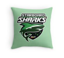 Trek.fm: Starboard Sharks Throw Pillow