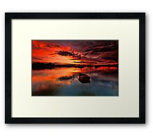 Floating Away Framed Print