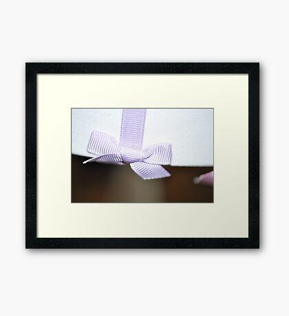 ribbon Framed Print