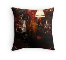 Elegant lady at Maxim's Throw Pillow