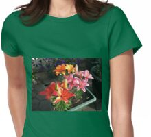 Lilies Soaking Up The Sunshine Womens Fitted T-Shirt