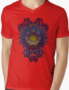 Psychedelic Fractal Manipulation Pattern Mens V-Neck T-Shirt