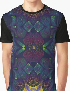 Psychedelic Fractal Manipulation Pattern Graphic T-Shirt