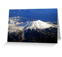 Fly By Mt.St. Helens Greeting Card