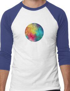 Abstract Color Wave Flash Men's Baseball ¾ T-Shirt