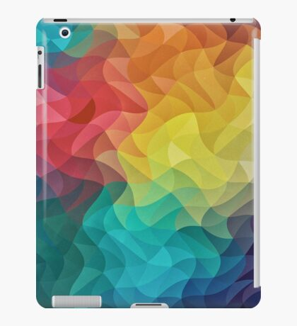 Abstract Color Wave Flash iPad Case/Skin