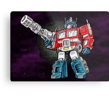 Transformers Optimus Prime Chibi Metal Print