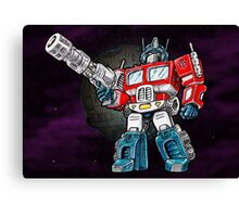 Transformers Optimus Prime Chibi Canvas Print