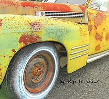 1+3=4 Wheels Classic Car Art by Rita  H. Ireland