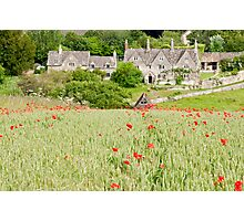 Cotswold Poppy Field Photographic Print