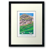 Spring Flowers by Capel Fell, Moffat Hills, Dumfriesshire Framed Print