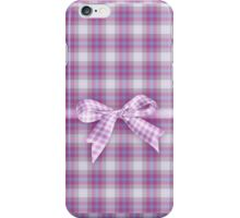 pink plaid iPhone case iPhone Case/Skin