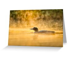 Into the rising mist Greeting Card