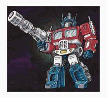 Transformers Optimus Prime Chibi Kids Tee