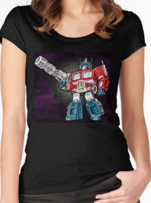 Transformers Optimus Prime Chibi Women's Fitted Scoop T-Shirt