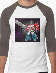 Transformers Optimus Prime Chibi Men's Baseball ¾ T-Shirt