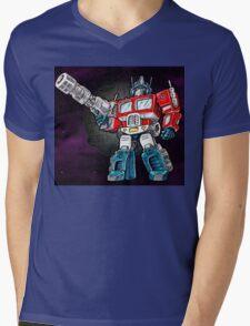 Transforming Mech Leader Optimal Primus Mens V-Neck T-Shirt