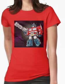 Transforming Mech Leader Optimal Primus Womens Fitted T-Shirt