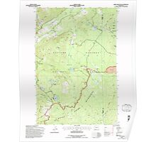 USGS Topo Map Washington State WA Green Mountain 241411 1994 24000 Poster