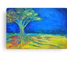tree in field of loneliness Canvas Print