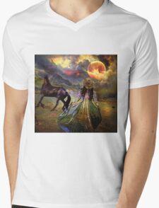 WILDFIRE Mens V-Neck T-Shirt